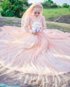 Gaun pernikahan muslimah